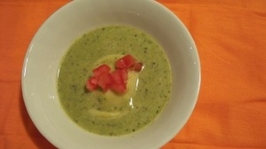 Asparagus Soup with Lobster Ravioli